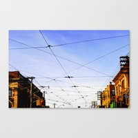 Queen Street Grid Canvas Print