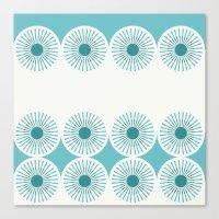 Dandelion Dish (Teal) Canvas Print