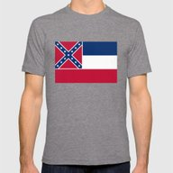 Mississippi State Flag -… Mens Fitted Tee Tri-Grey SMALL