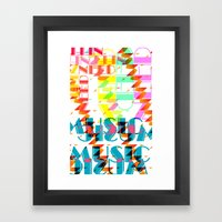 NEEDMusic Framed Art Print