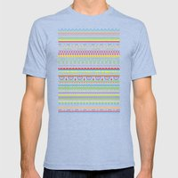 Pattern Mens Fitted Tee Tri-Blue SMALL