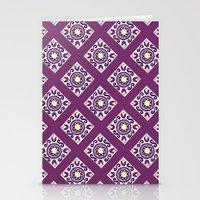 Purple Diamond Tiles Stationery Cards
