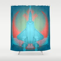 Into the future USAF F22 Shower Curtain