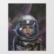 Astro Girl Canvas Print