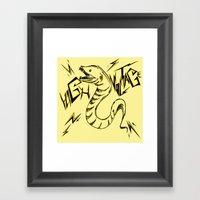 Eel Power Framed Art Print
