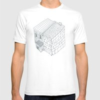 Block Mens Fitted Tee White SMALL