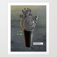 CRZN Dynamic Microphone Art Print