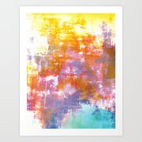 OFF THE GRID 3 Colorful … Art Print