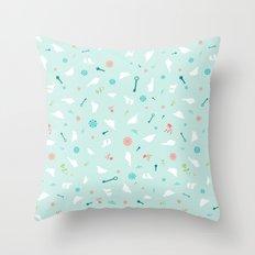 Birds in Silhouette on light blue Throw Pillow
