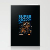 Super Raccoon Stationery Cards