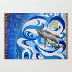 cosmic whale Canvas Print