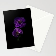 Two Purple Anemones Stationery Cards