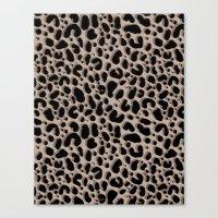 Leopard Ikat Canvas Print