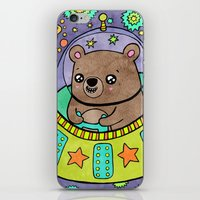Space Bear iPhone & iPod Skin