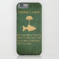 fish iPhone & iPod Cases featuring Einstein by Tracie Andrews