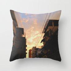 Urban Sunset Throw Pillow