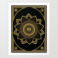 Peace Lotus Art Print
