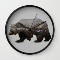 The Kodiak Brown Bear Wall Clock