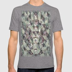 DIRT Mens Fitted Tee Tri-Grey SMALL