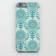 Paper Doily (BLUE) Slim Case iPhone 6s
