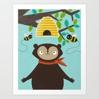 Honey! Art Print