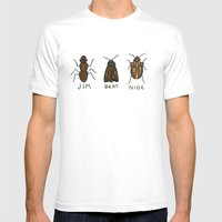 Bugs. Mens Fitted Tee White SMALL
