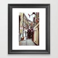 Flags In Greenwich Villa… Framed Art Print