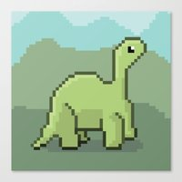 Another Pixel Dino! Canvas Print