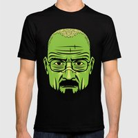 Walter White Portrait. Mens Fitted Tee Black SMALL