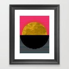 Abstract Sunset Framed Art Print