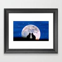 The Love Cats Framed Art Print