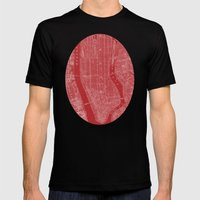 The Big Apple Mens Fitted Tee Black SMALL