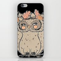 lady owl ready for the fall iPhone & iPod Skin