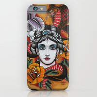 Woman With Snake iPhone 6 Slim Case