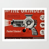 The Grinder (Ad) Art Print
