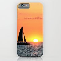 iPhone & iPod Case featuring Sail Into The Sunset by goguen