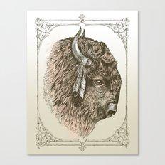Buffalo Portrait Canvas Print