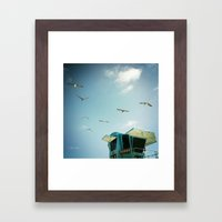 FLYING V, CARLSBAD, CA Framed Art Print