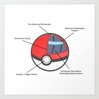 Pokeball Anatomy Art Print