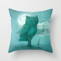 The Night Gardener - Cover Throw Pillow