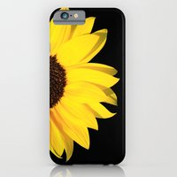 colored summer ~ sunflower black iPhone 6 Slim Case