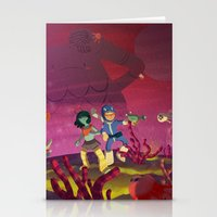 Matilda and Bouru - Alien Planet Stationery Cards