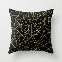 Abstraction Outline Gold… Throw Pillow