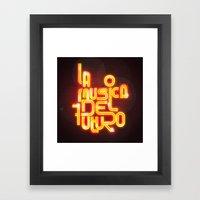 La musica del futuro Framed Art Print