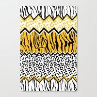 wild stripes pattern Canvas Print