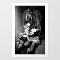 Nurse & Clowns Art Print