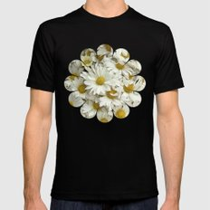 Daisy Mum Profusion Mens Fitted Tee Black SMALL