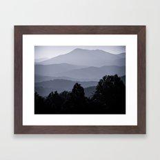 Misty morning at the Smoky's Framed Art Print