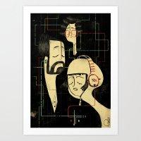 乐 Music v.2 / Vintage / Musicians Art Print