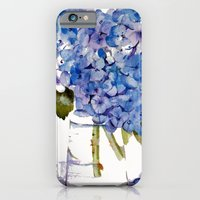 Hydrangea painting iPhone 6 Slim Case